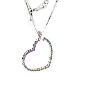 20b985228 Pandora Jewelry | Multicolored Heart Necklace | Poshmark